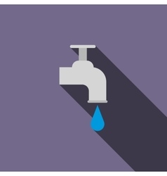 Water tap icon flat style vector image