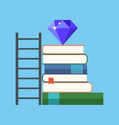 Way to knowledge wealth concept Flat design vector
