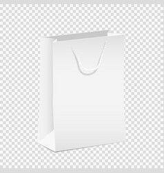 White empty shopping paper bag vector
