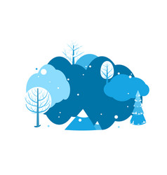 winter landscape background with copy space vector image