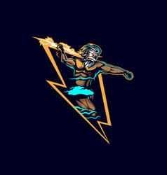 zeus lightning insignia vector image