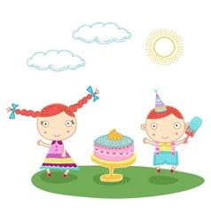 birthday kids vector image vector image