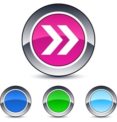 forward arrow round button vector image vector image