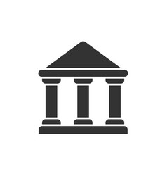 government building symbol vector image