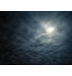 Night moon vector image