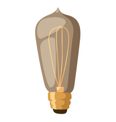 old retro lamp light isolated vector image vector image