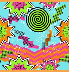 Retro 80s comic pattern background vector image vector image