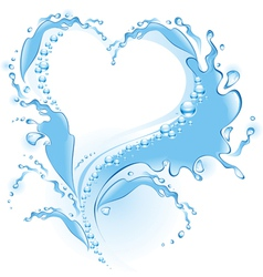splash heart vector image