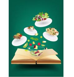 Creative recipe book concept idea vector image vector image