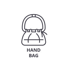 hand bag line icon outline sign linear symbol vector image vector image