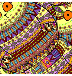 Seamless cat pattern ornamental background vector image vector image