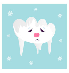 the funny frozen cloud vector image