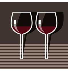Wineglasses vector image
