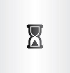 black sand clock icon time concept vector image