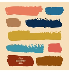 Brush Strokes Grunge Set vector image