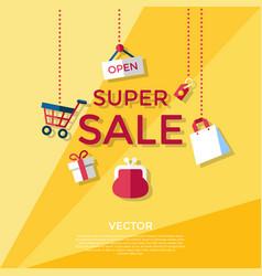 digital yellow shopping vector image
