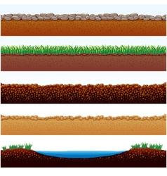 ground cutaway vector image