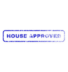 house approved rubber stamp vector image vector image