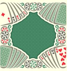 vintage poker table vector image vector image