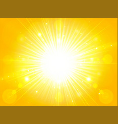 yellow orange summer sun light burst glittering vector image vector image