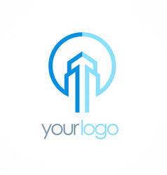 building tower logo vector image vector image
