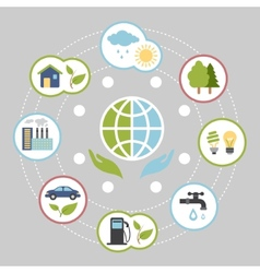 Ecologic infographic elements for web and print vector image