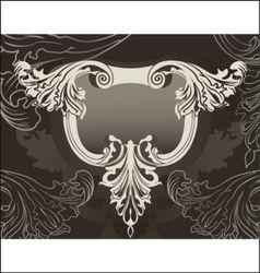 ornate back vector image vector image