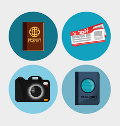 set elements vacation travel vector image