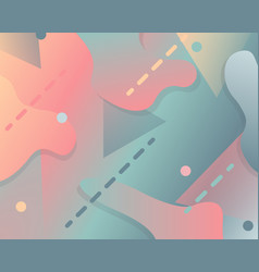 abstract gradient background with fluid elements vector image