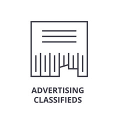 Advertising classifieds line icon outline sign vector
