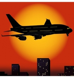 aeroplane silhouette vector image