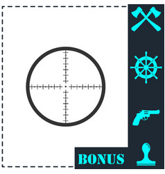aim icon flat vector image
