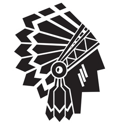 American indian avatar vector
