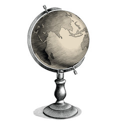 Antique celestial globe hand drawing vintage vector