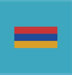 armenia flag icon in flat design vector image