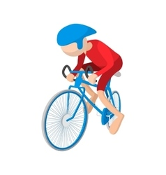 Athlete cyclist cartoon icon vector
