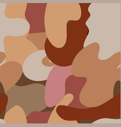 autumn camouflage trendy seamless pattern vector image