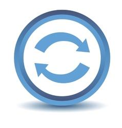 Blue synchronization icon vector