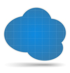 Blueprint Cloud vector image