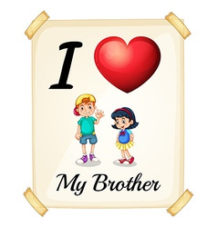Brother vector image