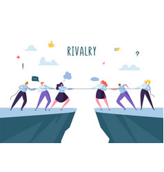 Business competition rivalry concept flat people vector
