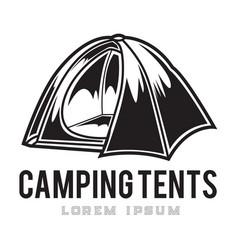 Camping vintage tent adventure outdoor logo 13 vector