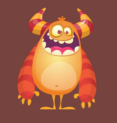 cartoon funny troll or gremlin vector image