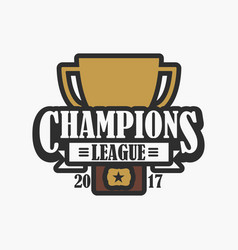 champion league sports logo vector image