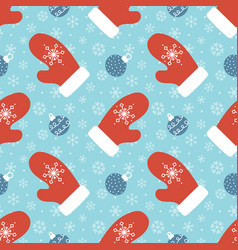 christmas and winter seamless pattern vector image