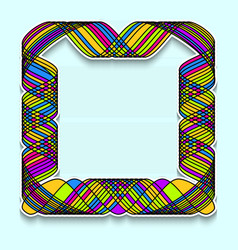 Colorful square frame in the style of random vector
