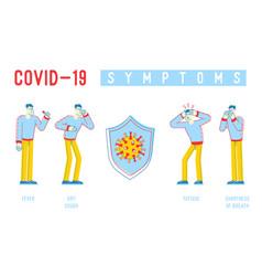 Coronavirus infographics people characters vector