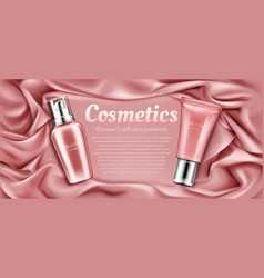 Cosmetics tubes mockup natural spa beauty product vector