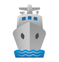 Cruise liner icon vector