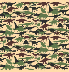 dinosaurs set vector image